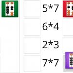 таблица умножение